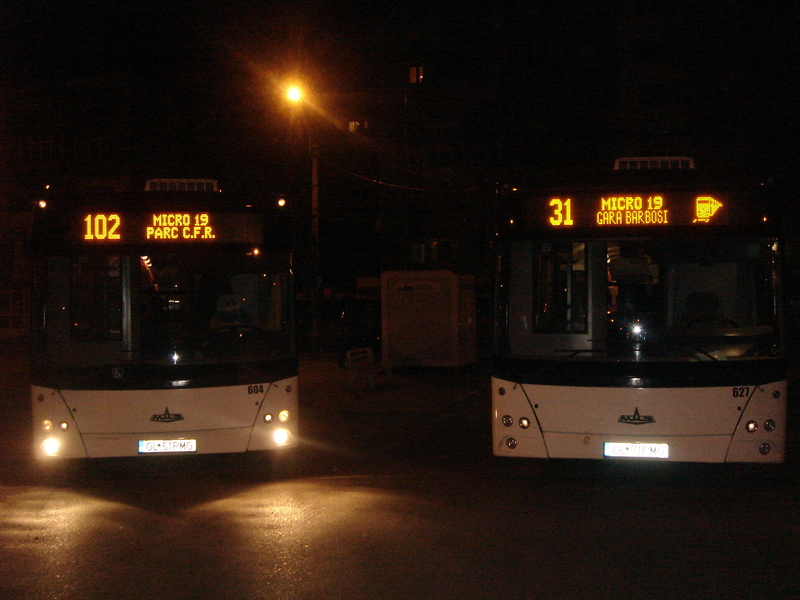 2 MAZ 203 Busses at Micro 19 endline.JPG